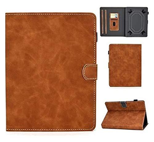 YNLRY Tab Accesorios para Huawei Mediapad T1 T2 T3 T5 M1 M2 M3 M5 Lite 10.1 M6 10.8, funda universal para tablet VOVO Q101 4G / I8 10.1' (color: marrón)