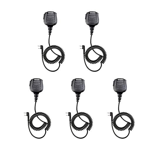 QCMYJM Micrófono 5pcs IP54 Micrófono de micrófono de Altavoz a Prueba de Agua con 2,5 mm de Audio rtyt Walkie C9075B Máquina de Karaoke