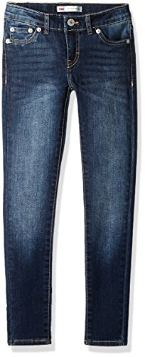 Levi's Big Girls' 710 Super Skinny Fit Classic Jeans, Blue Asphalt, 14