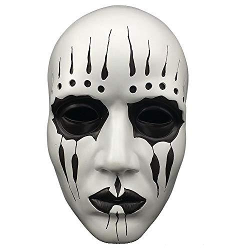 Shishiboss Decoración de Accesorios de Halloween, máscara de Resina para la Cara de Maquillaje Smokey de Terror para Adultos para la Fiesta de Halloween Casa encantada, Fiesta temática de Cosplay