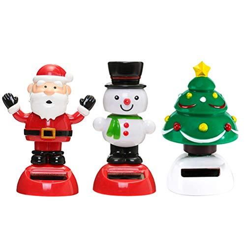 regali di natale giocattoli Urisgo Danza Albero di Natale Giocattolo Bobblehead Regalo Giocattoli per Bambini Regalo per la Decorazione di Natale dell'automobile 3pcs