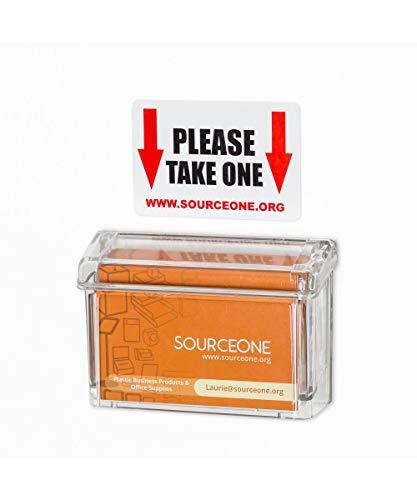 SourceOne - Tarjetero de alta calidad para exteriores (irrompible, incluye una pegatina)