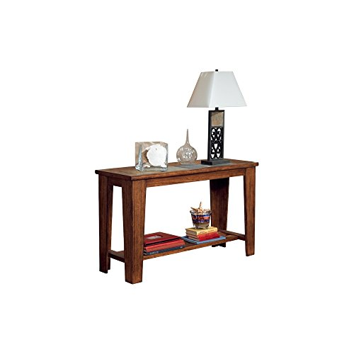 Hot Sale Signature Design by Ashley Toscana Sofa Table Wood with Natural Slate Tiles