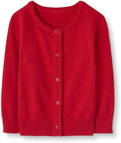 Moon and Back by Hanna Andersson Girls Baby Toddler Cardigan Sweater Red 3T product image