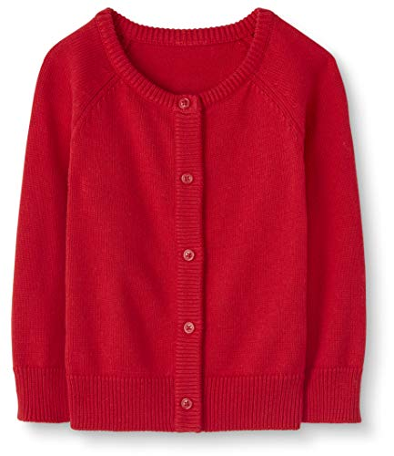 Moon and Back Baby Toddler Cardigan Sweater Infant-And Sweaters, Rosso, 12-18 Mesi