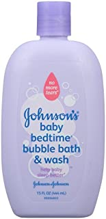 Johnson's Baby Bedtime Bubble Bath & Wash, 15 Ounce (Pack of 2)