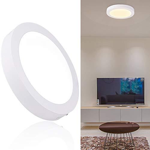 DLLT 24W LED Deckenlampe Warmweiß Deckenleuchte Küche, Rund Ø30cm, IP44 Wasserfest, Panel Wohnzimmerlampe aus Aluminium für Jugendzimmer, Schlafzimmer, Kinderzimmer, Flur, Keller Balkon