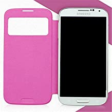 [Expedited] Minimalist Solid Color PU Leather for Samsung Galaxy S4 Mini I9190 (Assorted Colors) Easy to protection phone. (Color : Rose, Compatible Models : Galaxy S4 Mini)