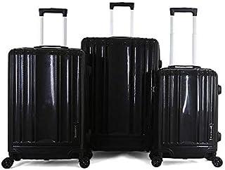 Giordano Hardside spinner luggage set of 3pcs with TSA Lock -Black