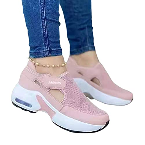 Valink Zapatillas ortopédicas, para mujer, ortopédicas, suela acolchada de aire, zapatillas tejidas voladoras para parejas, zapatos de senderismo informales