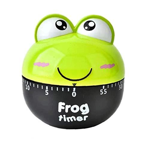 Naisicatar Küchen-Timer-Uhr 50 Min Frog Kochen Timer Cartoon Mechanische Countdown