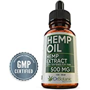 Hemp Oil for Pain: With 500 mg Hemp Extract for Pain, Stress and Anxiety Relief. Helps with Sleep, Mood and Skin. Anti Inflammatory and Energy Boost Herbal Remedy