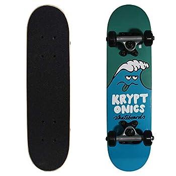 Kryptonics Locker Board 22 Inch Complete Skateboard - Wacky Wave  Blue 22  x 5.75