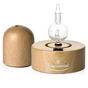 Diffuseur en bois naturel et verre soufflé Ne chauffe pas et ne dénature pas les huiles essentielles Simple d'utilisation et silencieux