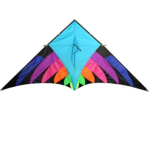 Arco Iris al Aire Libre Flying Kite Nylon Triangle Kite Juguete para niños al Aire Libre (sin línea) (Color : Blue -a)