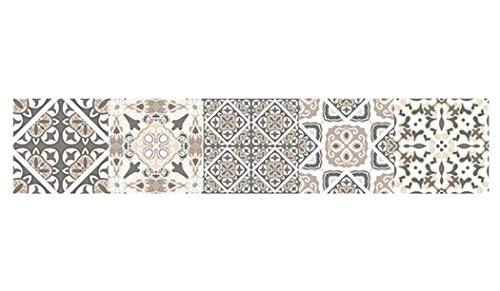 JUSTDOLIFE muurtegelstickers impregneren zelfklevende vintage patroon muur kunststicker Multicolor D