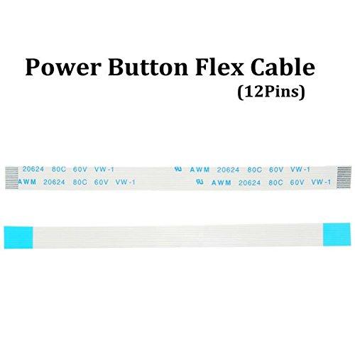PhilMat Pulsante di alimentazione del nastro della flessione del cavo 12 pin per Sony PS4 playstation 4 controller