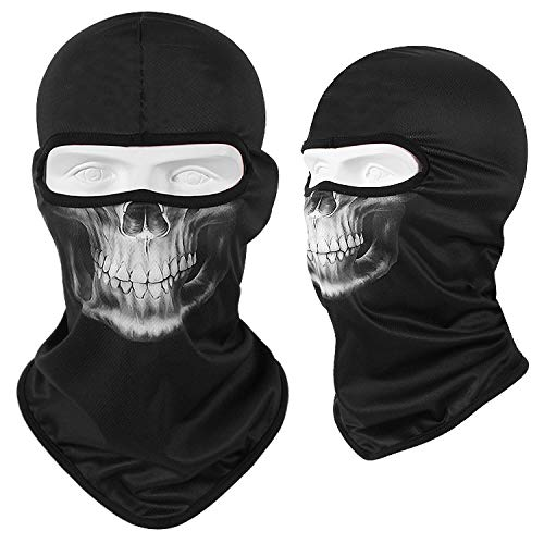 A prueba de viento Pasamontañas Gorro Máscara de la motocicleta de la cara máscara fresca del esqueleto del robot de Halloween bufanda Joker diadema Balaclava mascarilla for Ciclismo Pesca Esquí Másca