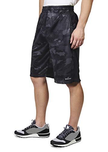 Spalding Extreme Performance Basketball-Shorts für Herren - Grau - Groß