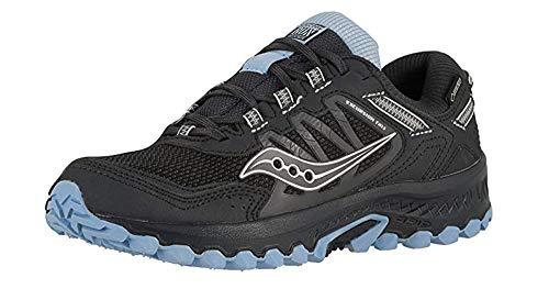 Saucony Women's Versafoam Excursion Tr13 Road Running Shoe, Black/Light Blue, 7.5 M US