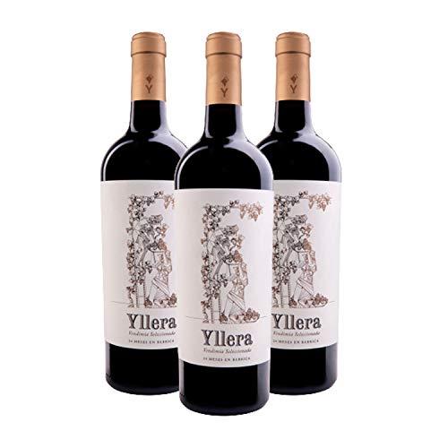 Yllera | Vino Tinto Crianza Yllera 24 Meses Vendimia Seleccionada | Pack de 3 uds | Tempranillo | 75 cl | de la Tierra Castilla y León | Aroma a Frutas Maduras | Aterciopelado | Vino Español