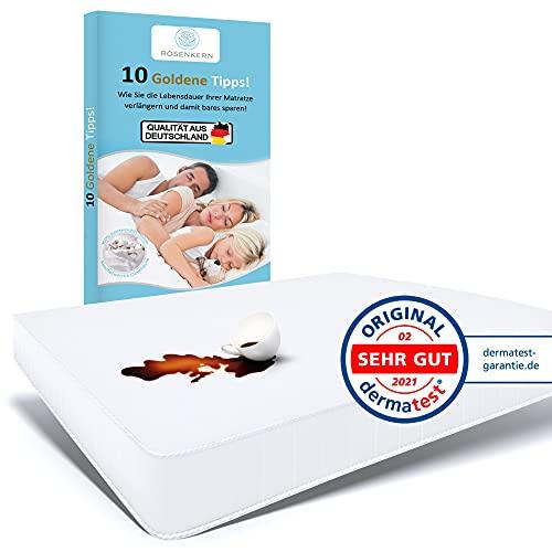 Rosenkern® Matratzenschoner 120 x 200 Wasserdicht - Premium Qualität aus Deutschland - Nässeschutz für Kinder - Atmungsaktiv & Waschbar - Molton Matratzenauflage 120x200 - Inkontinenzunterlage