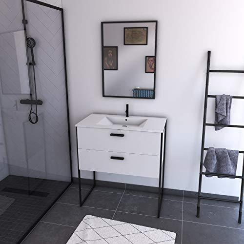 Aurlane LAV608 - Conjunto de muebles, color blanco