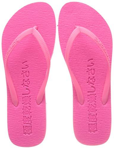 Superdry Super Sleek Flip Flop, Chanclas Mujer, Rosa (Fluro Pink 28r), 36/37 EU