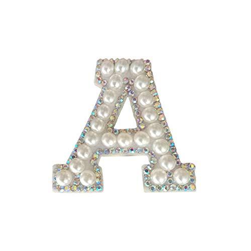 CHRISTY HARRELL Parches de ropa, 26 letras inglesas con diamantes de imitación...