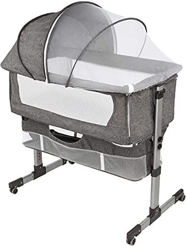 Bedside Sleeper Bedside Crib, Baby Bassinet 3 in 1 Travel Baby Crib...