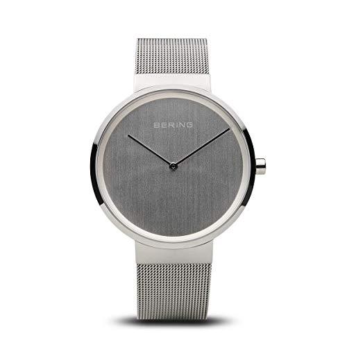 BERING Unisex-Armbanduhr Analog Quarz Uhr mit Edelstahl Armband 14539-000