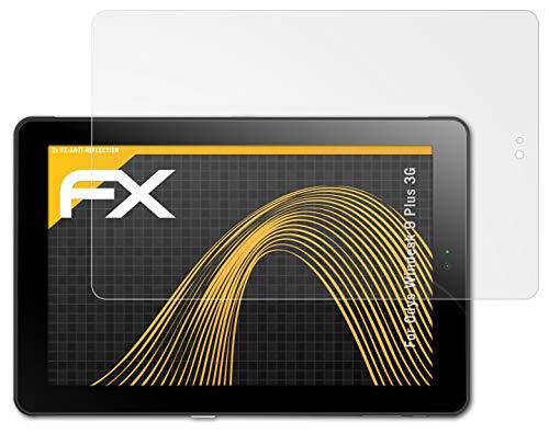 atFolix Panzerfolie kompatibel mit Odys Windesk 9 Plus 3G Schutzfolie, entspiegelnde & stoßdämpfende FX Folie (2X)