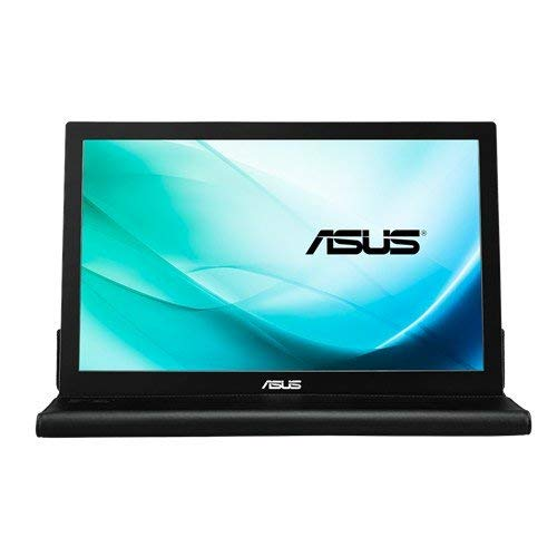 ASUS MB169B+ - Monitor portátil fino de 15.6' Full HD (1920x1080, Panel IPS, USB 3.0, ASUS Smart Case incluida, 16:9, grosor 8.5 mm, Tecnología EzLink, Smart Case) Negro y Plata