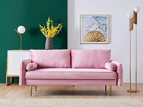 N / A Modern Sectional Sofa,Velvet Fabric Futon Sofa Couch with Two Pocket for Small Apartments, Living Room, Teenager's Room