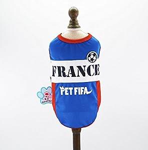 Animal Domestique FIFA France Coupe du Monde de Chien Puppy Maillot de Football