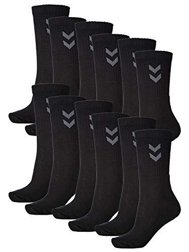 hummel Unisex Sportsocken im 6er Pack I schwarz 41-45
