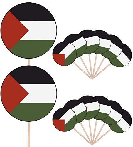 Palestijnse Vlag Partij Voedsel Cake Cupcakes Picks Sticks Vlaggen Opstaan Decoraties Toppers (Pack van 14)