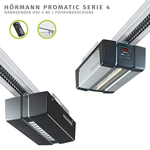 Hörmann Garagentorantrieb Pro Matic Serie 4 (Toröffner inkl. Handsende HSE 4, Anschlussleitung, Torbreite 5000 mm/Torblattfläche max. 11,25m²) 4510293, schwarz