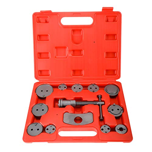 BTSHUB 13 pcs Disc Brake Caliper Universal 2 and 4 Wheel Drive Auto Wind Back Car Repair Tool Kit