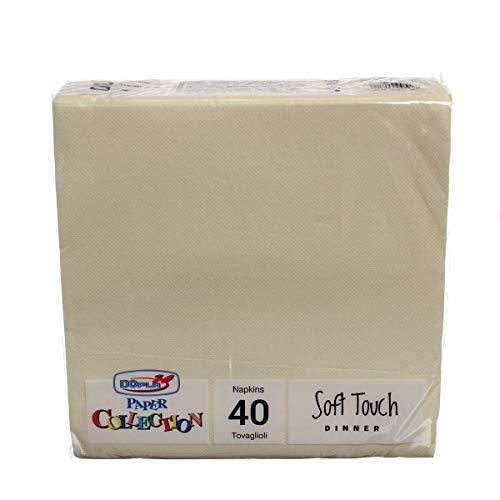 DOPLA 40 Tovaglioli di Carta Tessuto Non Tessuto 2 veli 38x38 Crema