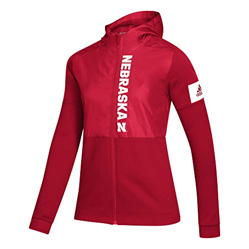 adidas NCAA Damen Jacke Game Mode Full Zip, Damen, Women's Game Mode Full Zip Jacket, rot, X-Large