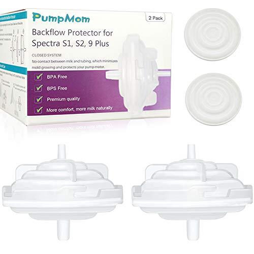 PumpMom Spectra Backflow Protector, Replacement Breast Pump Backflow Protector for Spectra S1/ Spectra S2/ Spectra 9 Plus Breastpumps(Not Original Spectra Pump Parts)