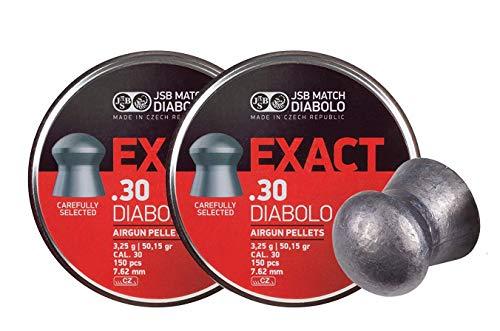 JSB 546031-150 Diablo Exact Air Gun Pellets .30 Cal, 50.15 Grains, 150ct, 2 Pack