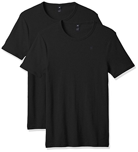 G-STAR RAW Base R T S/s 2-Pack Camiseta, Negro (Black 990), M para Hombre