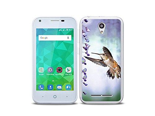 etuo Handyhülle für ZTE Blade L110 - Hülle Foto Hülle - Pastell Kolibri - Handyhülle Schutzhülle Etui Hülle Cover Tasche für Handy