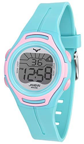 Kinder Digitaluhr für Jungen Mädchen Digital Armbanduhr wasserdichte Elektronische Uhr Sport Uhren mit Alarm Stopuhr Date Kalender Kinderuhr im Alter von 3-12