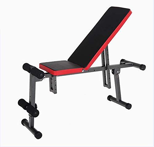BOUDECH Panca Crunch Multifunzione da Fitnes per Allenamento Pesi Addominali dorsali lombari (Panca Manubri)