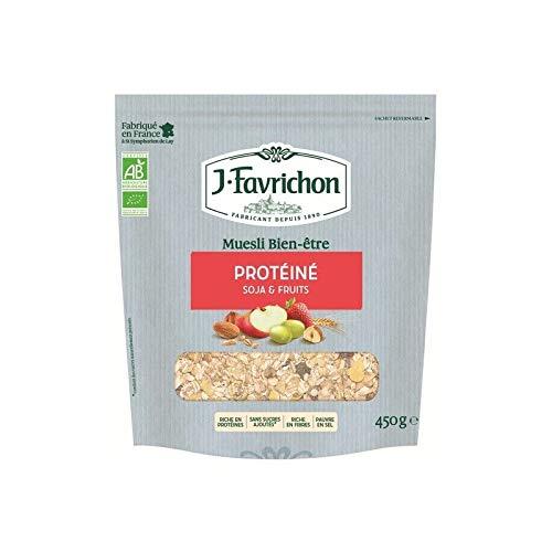 FAVRICHON Muesli protéiné soja & fruits 450G Bio -