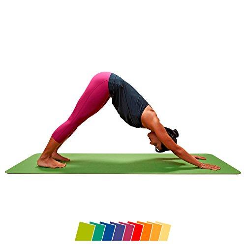 CALYANA® Prime Yoga - grün/braun Gymnastikmatte Matte Pilates Fitness