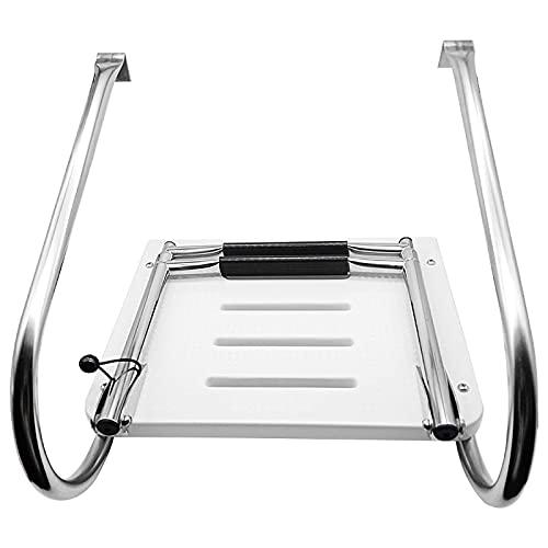 GAXQFEI Telescoping Ladder Stainless Steel Boarding Step Ladder for...